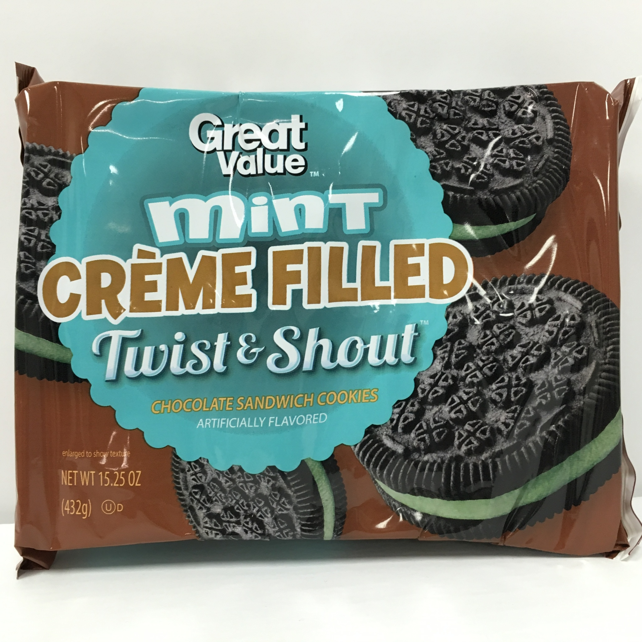 Great Value Mint Creme Filled Twist & Shout Chocolate Sandwich ...