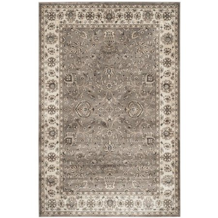 """Safavieh Persian Garden 4' X 5'7"""" Power Loomed Rug in Gray and Ivory - image 3 de 3"""