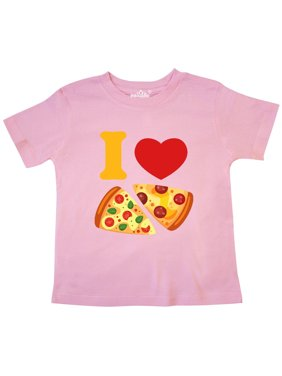 994eb6e1 Product Image I Love Pizza Toddler T-Shirt. Product Variants Selector. Pink  3/4 Sleeve Heather Smoke