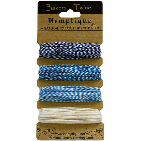 Hemptique Cotton Bakers Twine Card Set, 2-Ply (Bakers Twine Set)