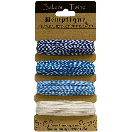 Hemptique Cotton Bakers Twine Card Set, 2-Ply (Bakers Twine Set)