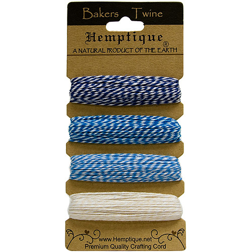Hemptique Cotton Bakers Twine Card Set, 2-Ply 410'