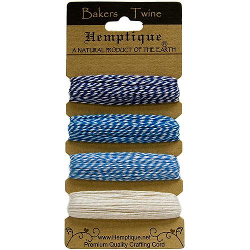 Hemptique Cotton Bakers Twine Card Set, 2-Ply 410'