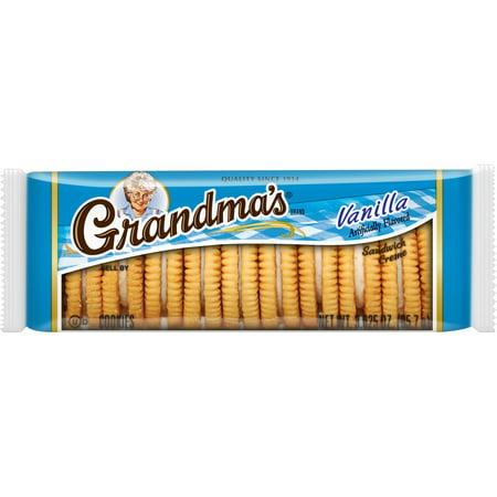 (3 Pack) Grandma's Vanilla Sandwich Creme Cookies, 3.025 oz