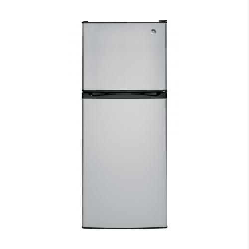 "GE  GPS12FSHSB 24"" Freestanding Top Freezer Refrigerator with 11.6 Cu. Ft. Capacity  2 Adjustable"
