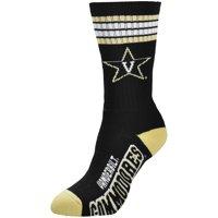 Vanderbilt Commodores For Bare Feet Women's 4-Stripe Deuce Crew Socks