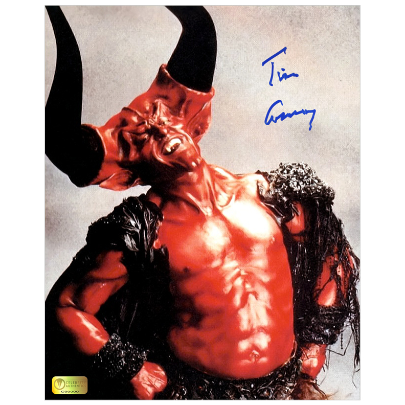 Tim Curry Autographed Legend 8?10 Darkness Studio Photo
