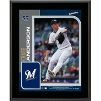 """Chase Anderson Milwaukee Brewers 10.5"""" x 13"""" Sublimated Player Plaque"""