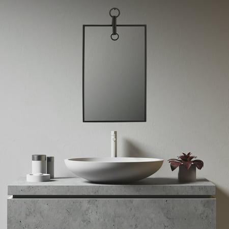 Mirrorize Ca 20 X13 Elegant Framed Plain Wall Mirror Black Rectangle Hanging Modern Industrial Vertical Decorative Metal Frame Designer Mirrors For Bathroom Entryway Bedroom Walmart Canada
