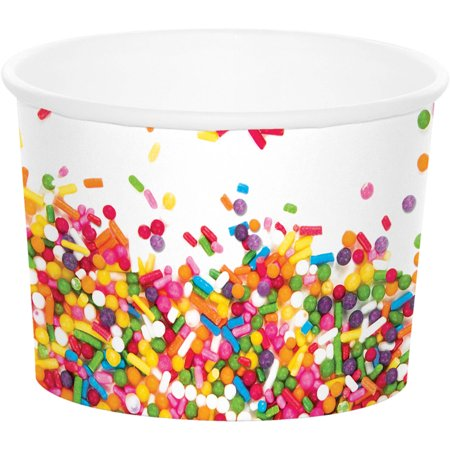 Confetti Sprinkles Treat Cup, 6-Pack - Treat Cups