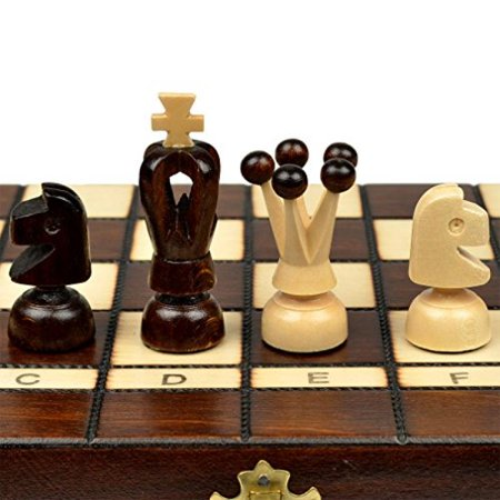 Small European Wooden Chess And Checkers Set   13 8