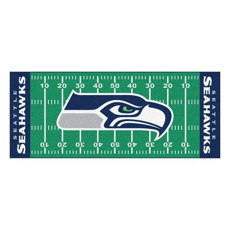 Seattle Seahawks Embroidered Football - Seattle Seahawks Football Field Runner