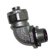 """Sigma Electric 45763 90 Degree Connector Liquid Tight For Connecting Conduit, 1/2"""""""