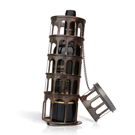 TOOARTS The metal tower wine rack Wine rack with practical and beautiful appearance Practical ornament Handicraft ()