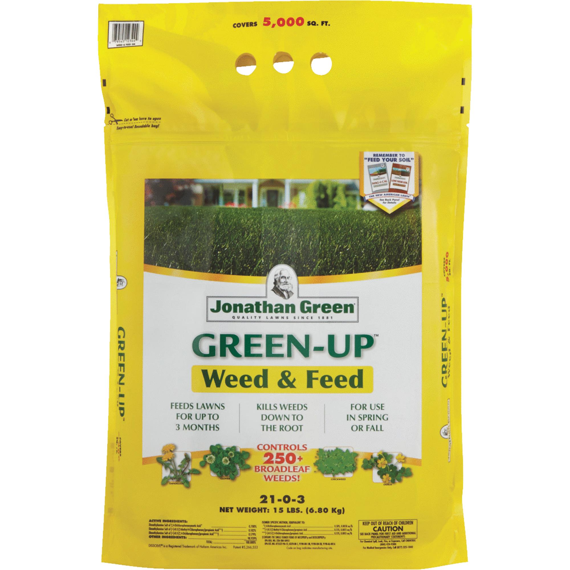 Jonathan Green Green-Up Weed & Feed Lawn Fertilizer With Weed Killer