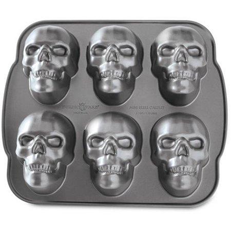 Nordic Ware Haunted Skull Cakelet Pan Walmart Com