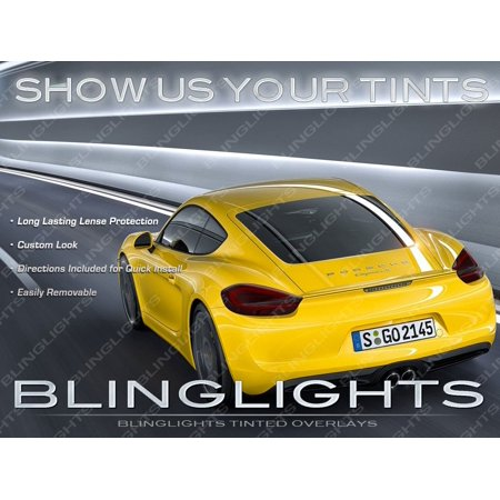 New Porsche Cayman Murdered Out TailLight Overlays Kit Tinted TailLamp Film Lense Protection Covers