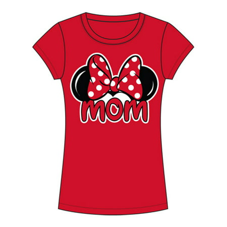 Disney Junior Minnie Mom Family - Red - Large Fashion Tee - Funny Family Disney Shirts