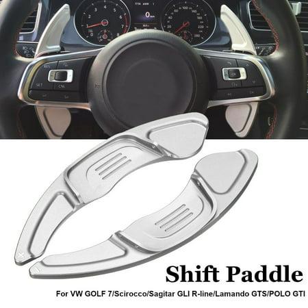 Pair Steering Wheel Shift Paddle Extension For VW GOLF 7 TSI GTI R MK7