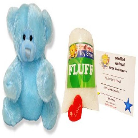 Make Your Own Stuffed Animal Mini 8 Inch Baby Blue Teddy Bear Kit - No Sewing Required!