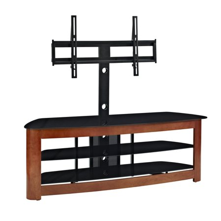 Walker Edison Cherry 60 Deluxe Glass Tv Stand W Mount V60mtch