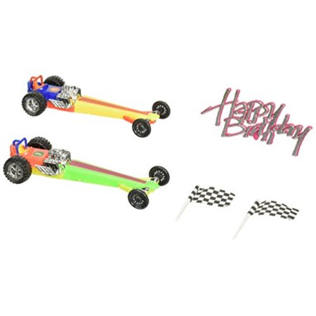 Oasis Supply Dragster Rail Cars Racing Cake Decorating Topper Kit (Cars Cake Decorating Kit)