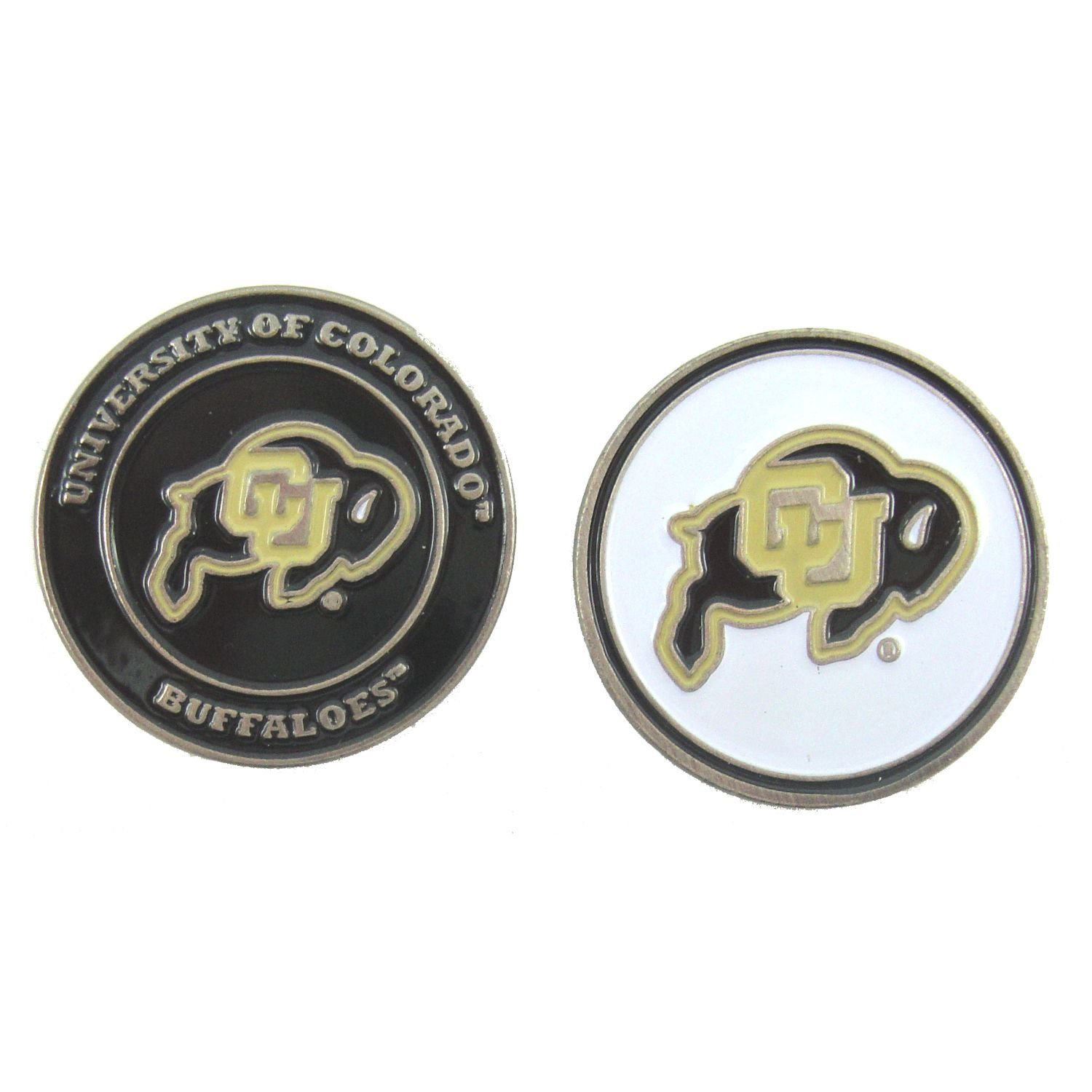Colorado Buffaloes Double-Sided Golf Ball Marker, University of Colorado Golf Ball Marker By Waggle Pro Shop,USA