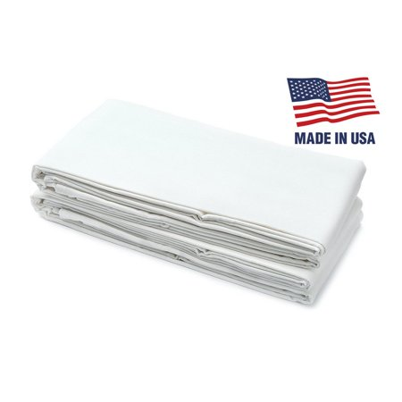 "USA Made - Fitted Bed Sheet For Twin XL, Bunk, Dorm, And Hospital Mattresses - 38"" x 80"" x 9 1/2"" - 50/50 Cotton/Polyester Blend"
