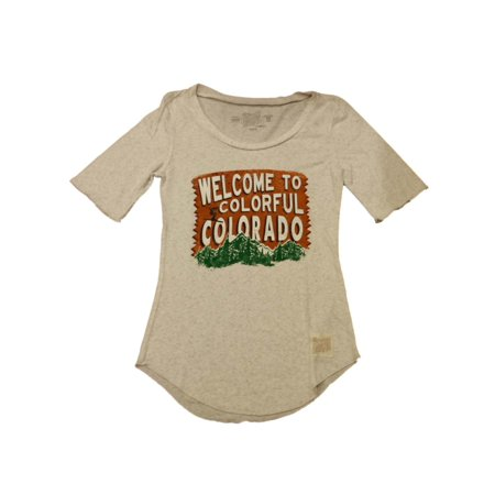 Welcome To Colorful Colorado Retro Brand Womens Gray 1 2 Sleeve T Shirt  Xs