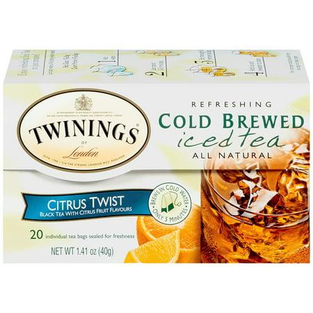 Twinings Citrus Twist Cold Brew Bagged Tea, 20 Ct