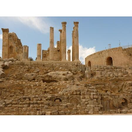 Jordan Holiday Jerash Gerasa Temple Of Artemis Poster Print 24 X 36