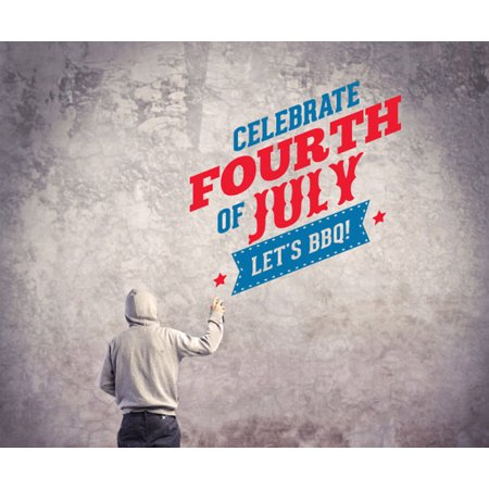 Fourth Of July Bbq (4th Of July Celebrate Fourth Of July Lets BBQ Wall Decal - Vinyl Decal - Car Decal - Idcolor005 - 25)