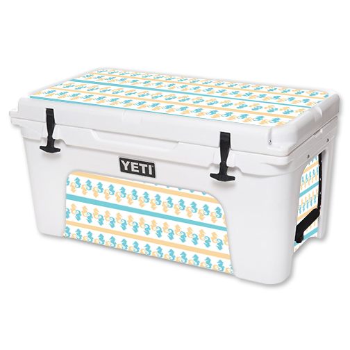 MightySkins Protective Vinyl Skin Decal for YETI Tundra 65 qt Cooler wrap cover sticker skins Sandy Seahorse