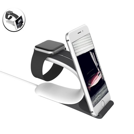 TSV Watch Stand, LOCA Mobius 2-in-1 Smart Watch Charging Holder for Apple Watch, iPhone, iPad All Edition