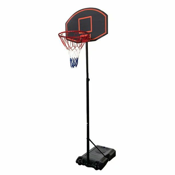 1.6m~2.18m Portable Adjustable Teenager Basketball Hoop Rack Stand Black /& Red
