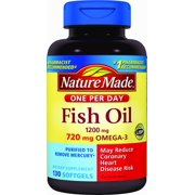 Nature Made One Per Day Fish Oil Softgels, 1200 Mg, 130 Ct