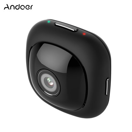 Andoer G1 Super Mini Sticky Adhesive Adsorbable Portable Compact Handy Handheld Full HD Pocket Camera 120 Degree Wide Angle 1080P 30FPS Wifi App Remote Control 8MP Auto Selfie 120 Degree Angle Head