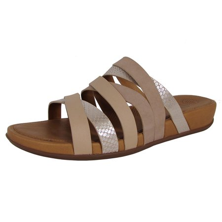 6df6357ba FitFlop - Fitflop Womens Lumy Leather Slide Sandal Shoes - Walmart.com