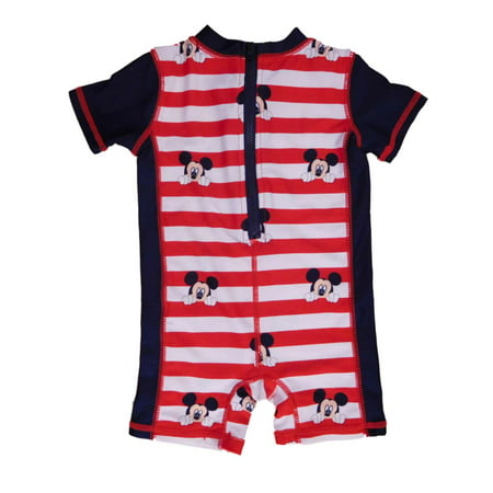 aca5b54b519 Disney - Mickey Mouse Clubhouse Infant Boys Rash Guard Romper Sunsuit  Swimsuit 3-6m - Walmart.com