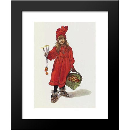 Brita as Iduna (Iðunn), lithography, title page for the christmas edition of Idun, 1901 20x24 Framed Art Print by Carl Larsson