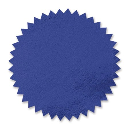Plain Blue Foil Embossing Serrated Edge Certificate Seals, 2 Inch, Self Adhesive, 102 per Pack