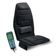 Relaxzen Memory Foam Seat Cushion Massager with Heat & Lumbar Support