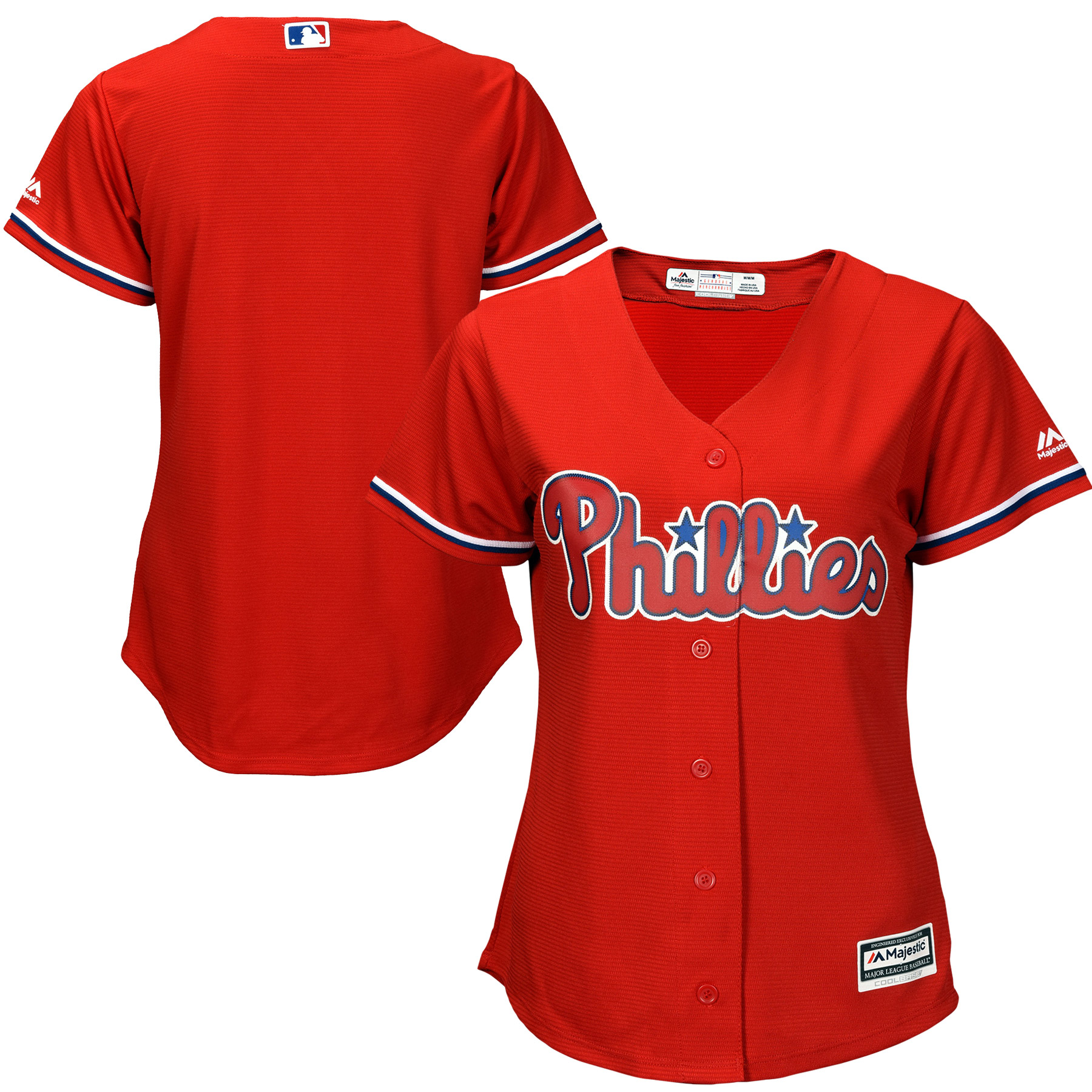 Philadelphia Phillies Majestic Women's Cool Base Jersey - Red