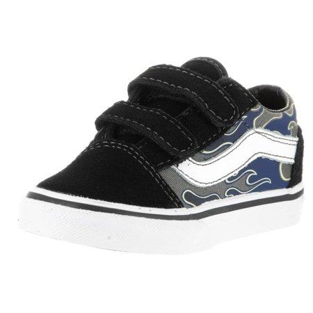 9556e6df2146 Vans - Vans Toddler Old Skool V (Glow Flame) Skate Shoe - Walmart.com