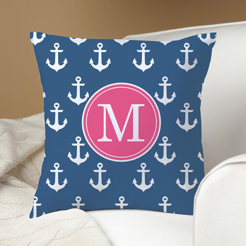 Personalized Anchors Away Pillow