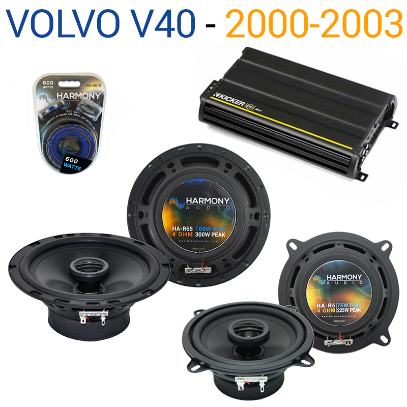 Volvo V40 2000-2003 Factory Speaker Replacement Harmony R5 R65 & CX300.4 Amp - Factory Certified Refurbished