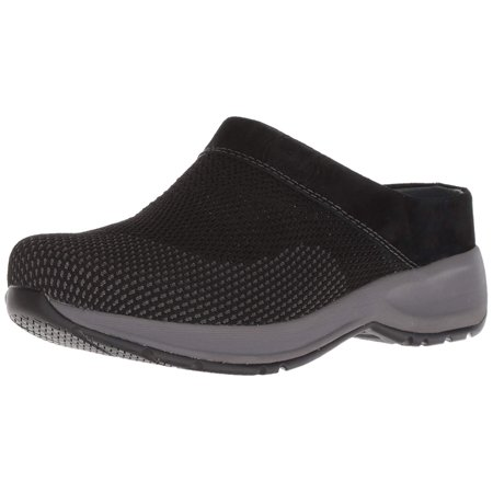 - Dansko Womens Sondra Leather Round Toe Mules, Black Suede, Size 8.5