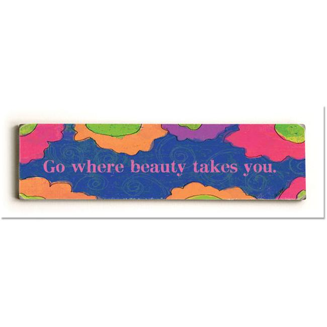 ArteHouse 0003-4096-24 Go Where Beauty Takes You Vintage Sign - image 1 of 1