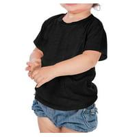 Kavio IJP0493 Infants Crew Neck Short Sleeve Tee Jersey CVC.(Replaces 0432)-Black-12M