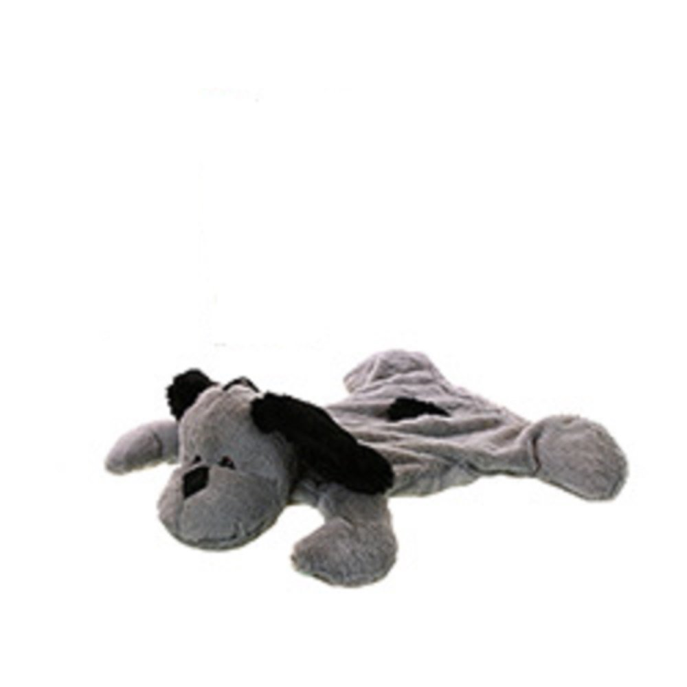 Hot Water Bottle with Gray Plush Puppy Dog Cover for Cold Winter time by